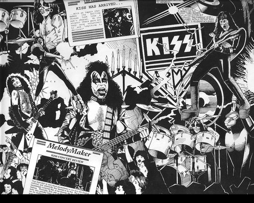 KISS wallpaper with anime called KISS