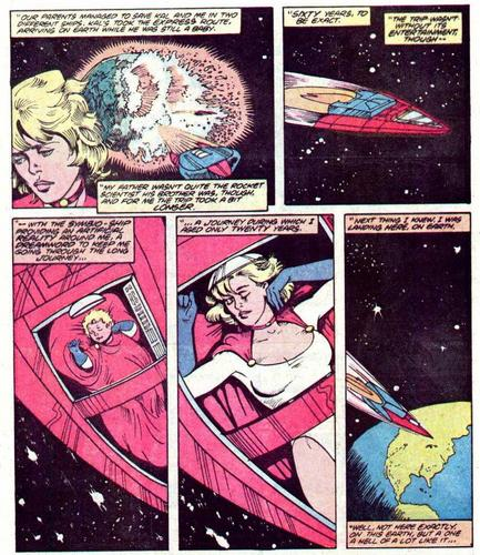 Kara Zor-El's arrival on Earth-Two
