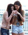 Kendall, Kylie & Khloe enjoy a siku at Universal Studios in Hollywood, July 5