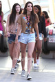 Kendall, Kylie & Khloe enjoy a día at Universal Studios in Hollywood, July 5