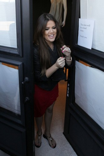 Khloe Kardashian at Vera Wang.