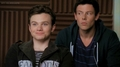 Kurt's excitment has Finn suspicious LOL!!