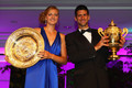 Kvitova and Djokovic win Wimbledon 2011 - tennis photo