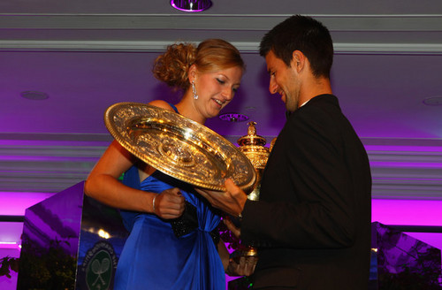 Kvitova and Djokovic win Wimbledon 2011