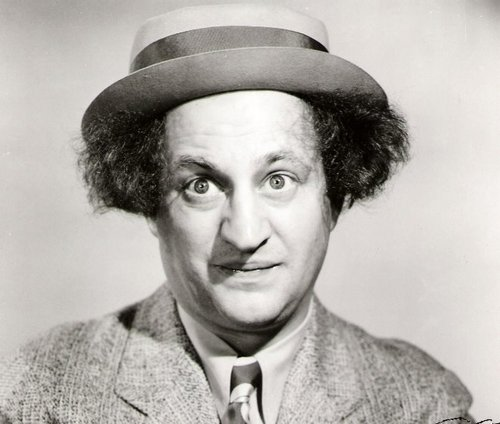Three Stooges wallpaper with a fedora entitled Larry Fine