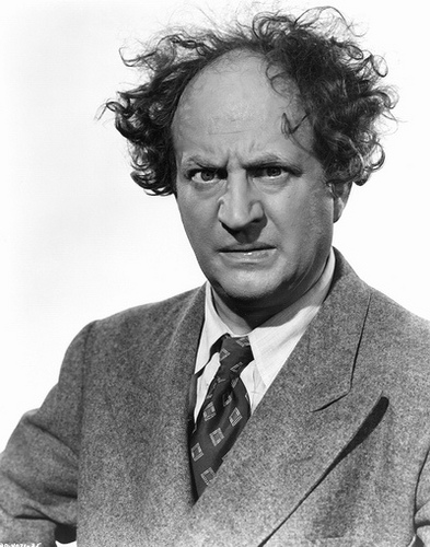 Three Stooges wallpaper containing a business suit and a suit entitled Larry Fine