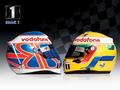 Lewis & Jenson Race Helmets Wallpaper