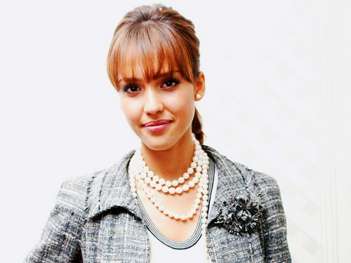 Jessica Alba wallpaper containing a pullover entitled Lovely Jessica Wallpaper ❤