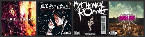 My Chemical Romance wallpaper possibly with anime titled MCR Album Covers