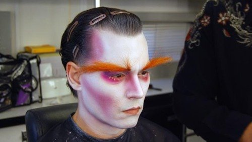 Mad Hatter&#39;s Make Up - mad-hatter-johnny-depp Photo