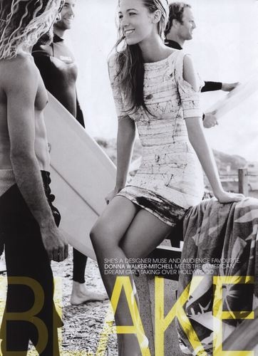 Blake Lively achtergrond probably containing bare legs, a swimsuit, and a leotard called Madison Magazine (July 2011)