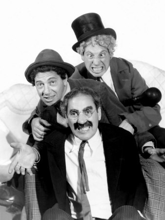 Marx Brothers Hintergrund probably containing a business suit entitled Marx Bros.