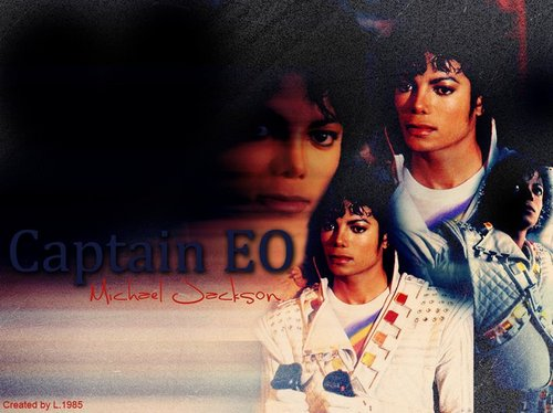 Captain Eo achtergrond probably with a portrait entitled Michael Jackson Captain EO