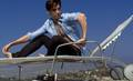 Milo Sitting on a Boat - milo-ventimiglia photo