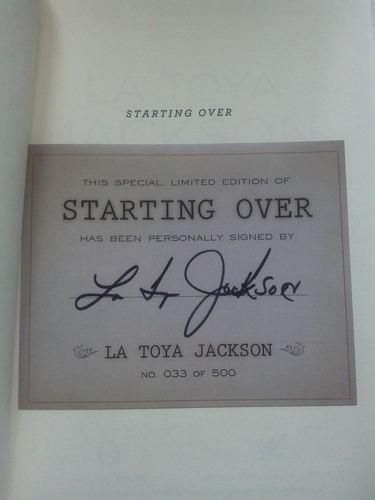 "My book ""Starting Over"" with autograph."