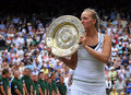 Petra Kvitova Wimbledon kiss - tennis photo