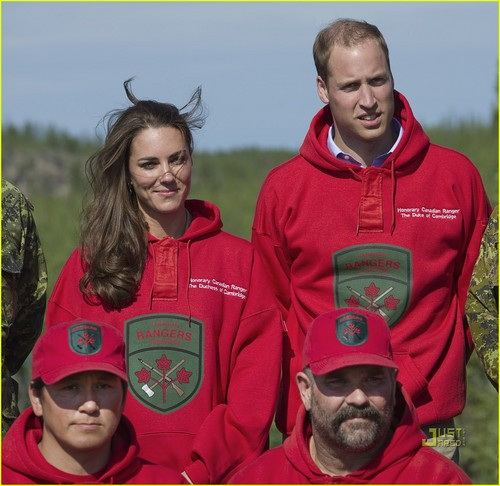 Prince William and Kate Middleton wallpaper probably with a sweat suit entitled Prince William & Kate: Canoeing in Canada!