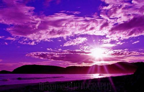 Purple Sunset in Montana