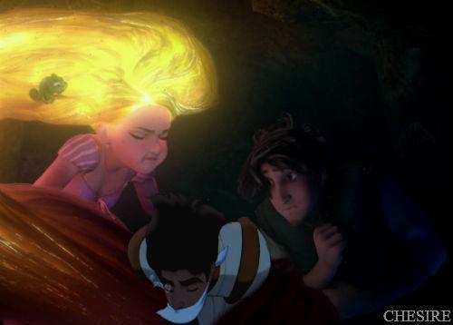 Disney crossover karatasi la kupamba ukuta titled Rapunzel/Aladdin/Flynn Rider