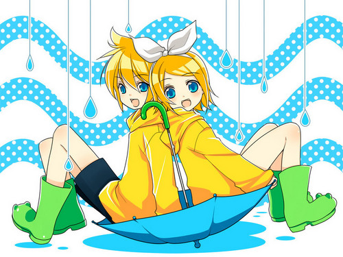 Vocaloids wallpaper possibly containing anime called Rin and Len
