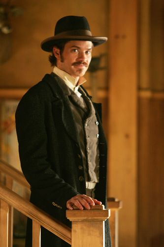 Deadwood wallpaper possibly containing a fedora and a business suit titled Seth Bullock