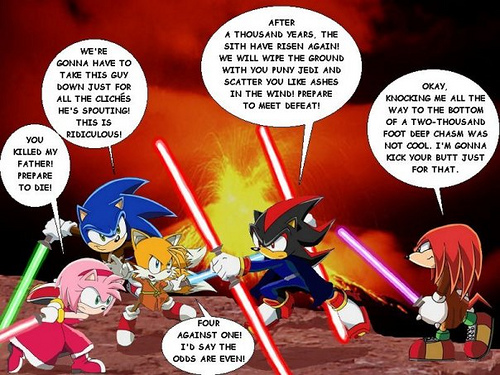 Sonic stella, star Wars