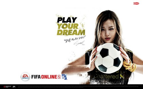 F(x) wallpaper containing a soccer ball titled Sulli FIFA Online 2