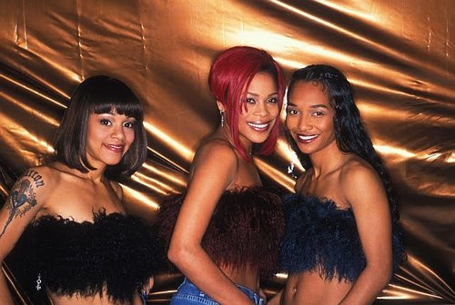 TLC (Music) wallpaper probably containing a bridesmaid, a dinner dress, and attractiveness called TLC Girls <3