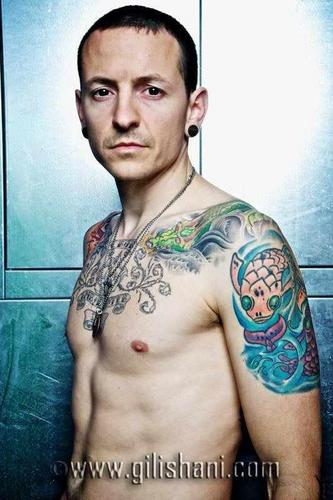 Chester Bennington hình nền with a một khúc lớn, hunk entitled Tattoo Wier Magazin Germany 2010