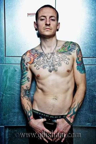 Chester Bennington wallpaper probably with a hunk, a six pack, and skin titled Tattoo Wier Magazin Germany 2010