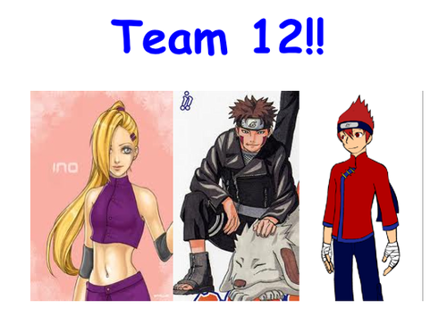 Naruto Shippuuden wallpaper with anime titled Team 12!!! *fan made*