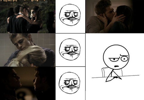 The awkward moment when Ты ship Stefan with everyone...except his girlfriend