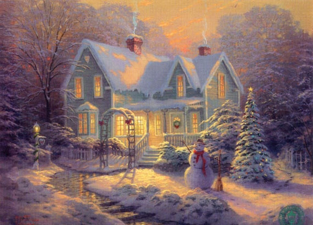 Winter Thomas Kinkade Winter