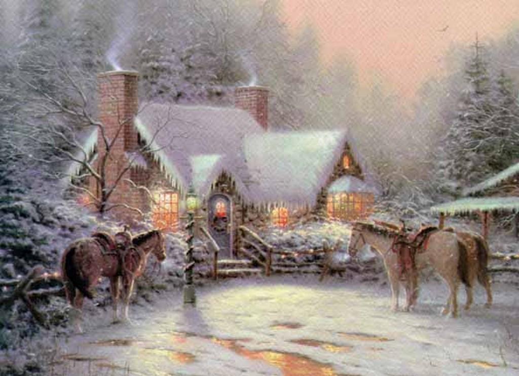 thomas kinkade winter winter fan art 23436542 fanpop. Black Bedroom Furniture Sets. Home Design Ideas