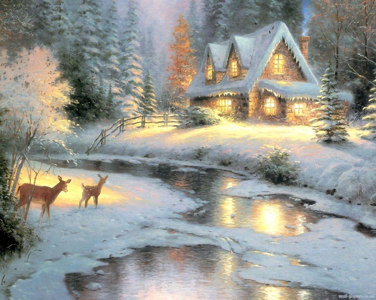 Winter Thomas Kinkade Winter