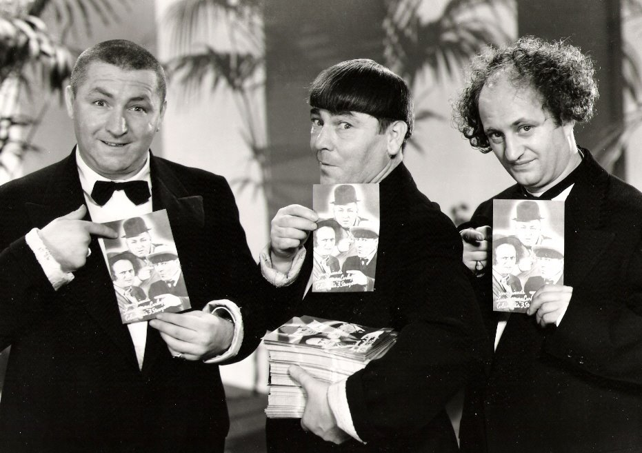Three Stooges kertas-kertas dinding