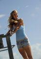 Caroline Wozniacki Outshines the Sun
