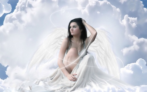 White Angel - angels Wallpaper