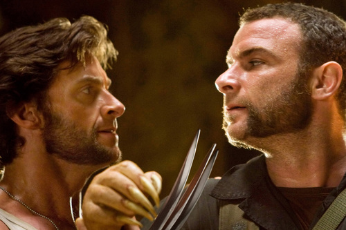 Hugh Jackman as Wolverine wolpeyper probably with a green birete called Wolverine & Sabertooth