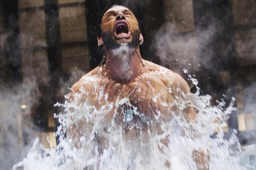 Hugh Jackman as Wolverine wolpeyper probably containing a breaststroker and a water entitled Wolverine
