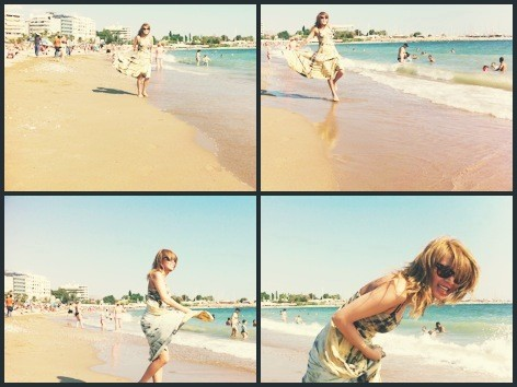 Ye Eun & Yubin snap pantai shots in Greece