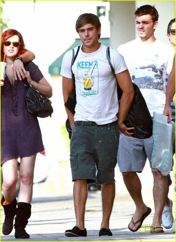 Zac out in Studio City