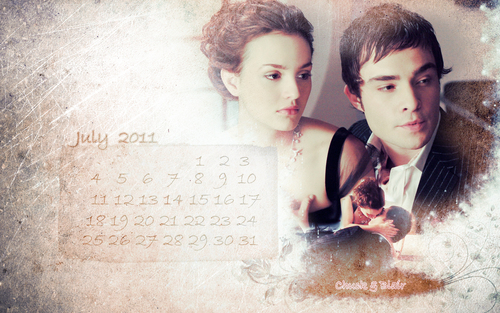 calendar july - gossip-girl Wallpaper