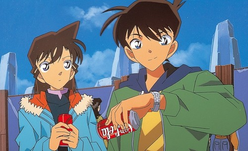shinichi x ran wallpaper containing anime entitled in topical land