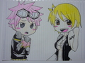 natsu and lucy always there for each other - natsu-x-lucy fan art