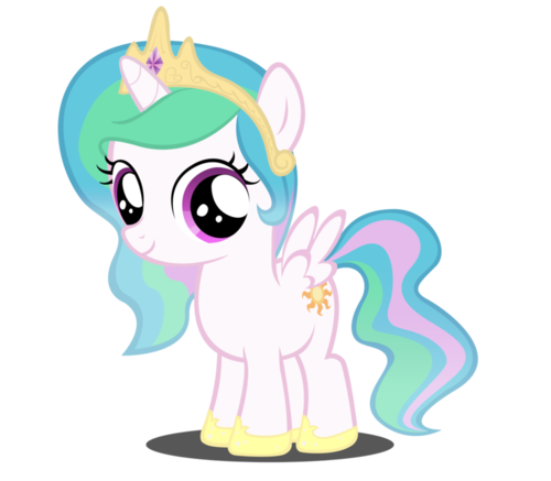 My Little Pony Friendship is Magic wallpaper called princess celestia as a filly