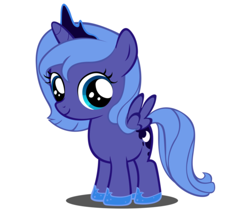 My Little Pony Friendship is Magic wallpaper entitled princess luna as a filly