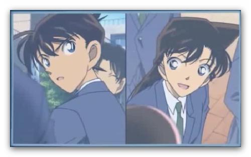 shinichi x ran wallpaper containing anime entitled shinichi ran