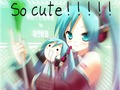 so cute!!!!!! - hatsune-miku wallpaper