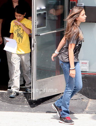 Paris, Prince & Blanket leaving their Acting Class in Studio City, Jul 6